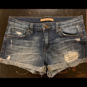Joes distressed shorts